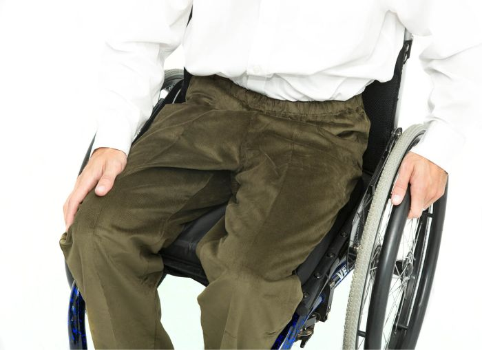 Tailor Made Elasticated Waist Wheelchair Cords (2 pairs)