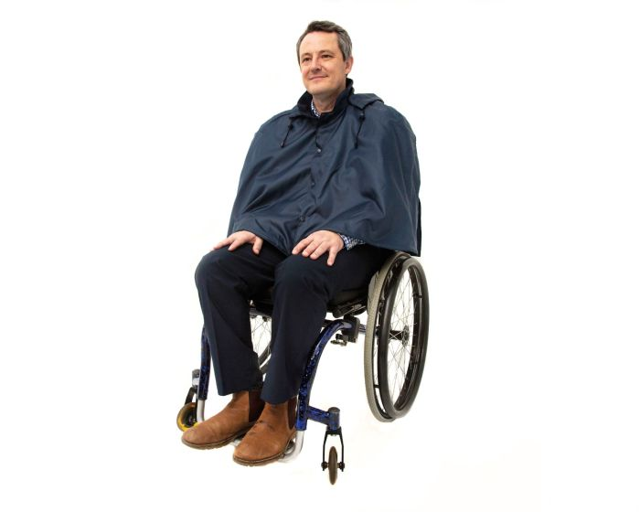 Warm lined Wheelchair Waterproof Cape