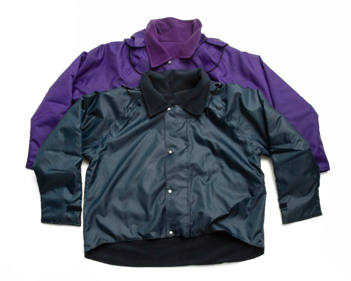 Back Fastening Warm Lined Waterproof Wheelchair Jacket