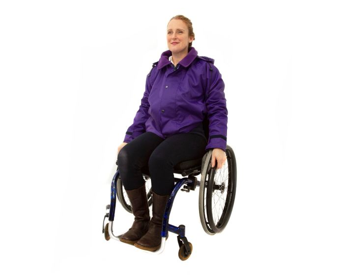 Women's Warm Lined Waterproof Wheelchair Jacket