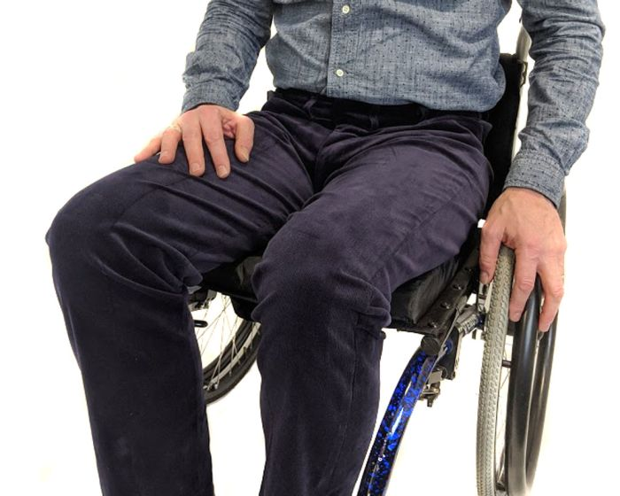 Zip front wheelchair cords