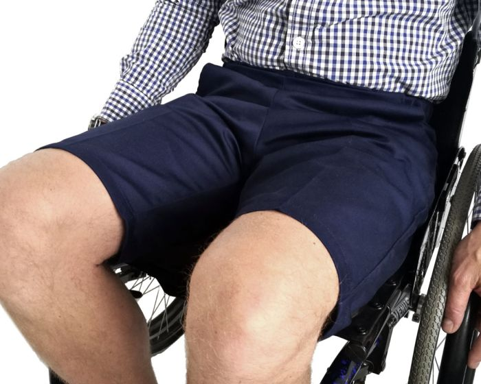 Men's Drop Front Wheelchair Shorts