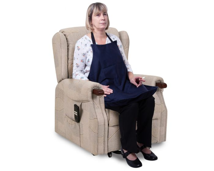 Smokers apron in chair