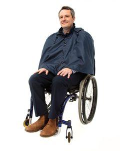 Warm lined Wheelchair Waterproof Cape
