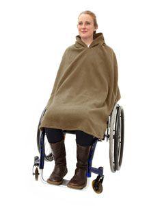 Wheelchair fleece poncho