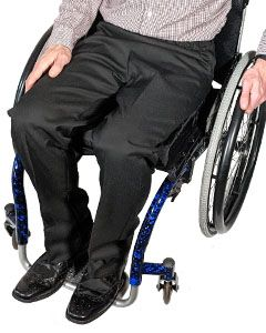 Men's Elasticated Waist Smart Wheelchair Trousers