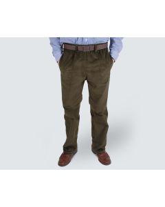 Men's Elasticated Waist Cord Trousers XXL/29 Khaki