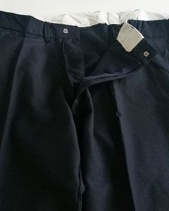 Polywool Navy Wheelchair trousers - XXL/29. WAS £59.50 Ex VAT