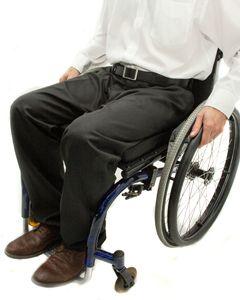 Men's zip front smart wheelchair trousers