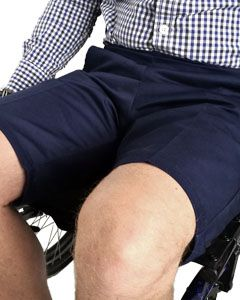 Elasticated waist wheelchair shorts