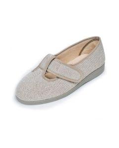 Ladies Extra Wide Canvas Shoe/Slipper