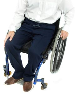 Men's Elasticated Waist Wheelchair Jersey Trousers