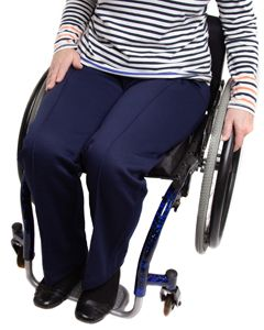 Elasticated Waist Wheelchair Jersey Trousers