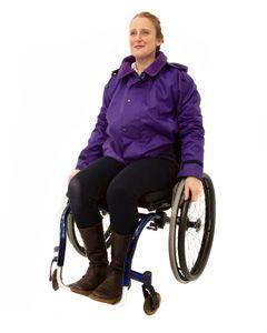 Women's Warm Lined Waterproof Wheelchair Jacket