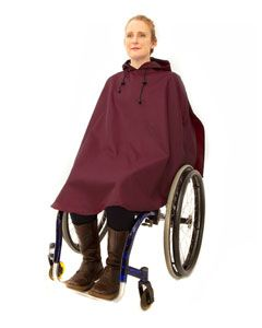 Women's waterproof wheelchair poncho