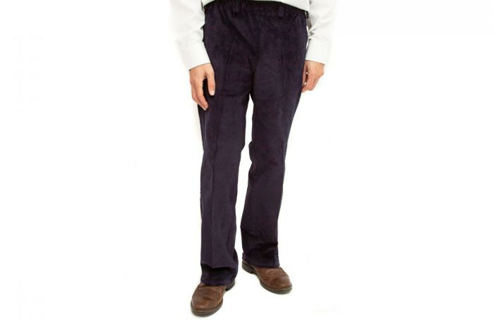 Mens elasticated waist trousers