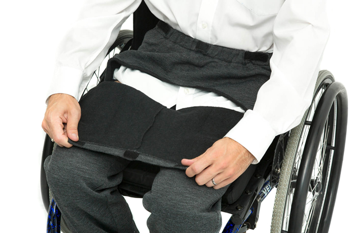Drop front wheelchair trousers