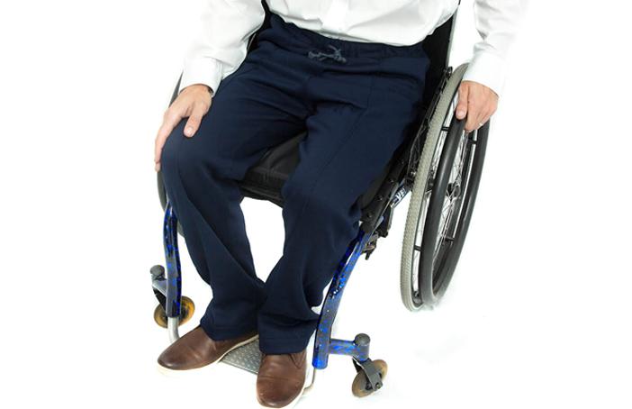 Men's Elasticated Waist Jersey Wheelchair Trousers