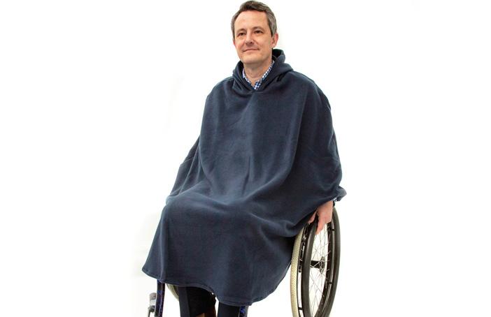 Men's Fleece Wheelchair Poncho