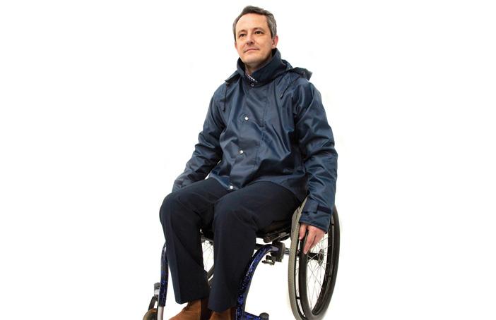 Mens wheelchair jacket