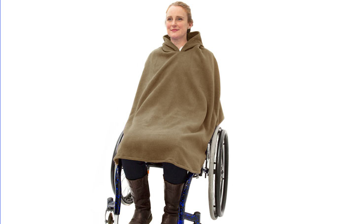 Women's Fleece Wheelchair Poncho