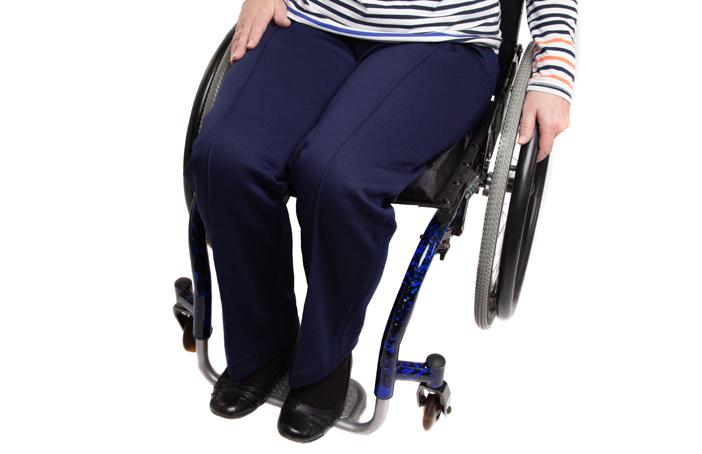 Women's Elasticated Waist Jersey Wheelchair Trousers