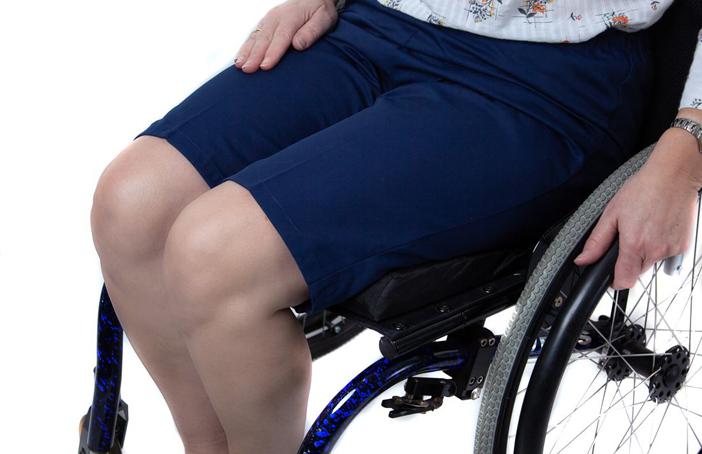 Womens elasticated waist wheelchair shorts