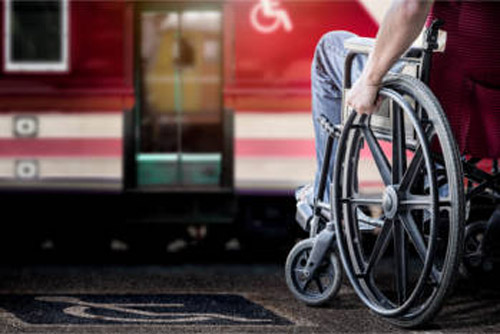 Disabled access on train